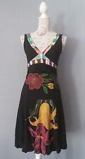 DESIGUAL Kleid Dress Robe Vestido Gr. S 36 Ballonkleid tolles Blumenmuster Stick