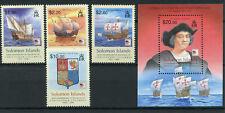 Solomon Isl 2006 MNH Christopher Columbus 500th Mem 4v Set + 1v M/S Ships Stamps