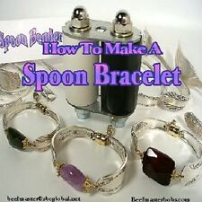 "DVD-""How To Make A SPOON BRACELET"" With Silver Spoons & Gemstone Beads,Wire,Gold"