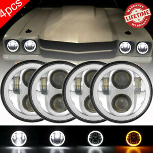 "4PCS 5-3/4 5.75""  LED Headlight Hi-Lo Beam for Oldsmobile 442 98 F85 Cutlass"