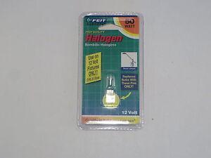 Halogen Bulb Feit Electric 50 Watt 12 Volt GY6.35 Base New