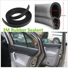 Universal 3M Car Door Window Black Rubber O U Shape Channel Edge Trim Seal Strip