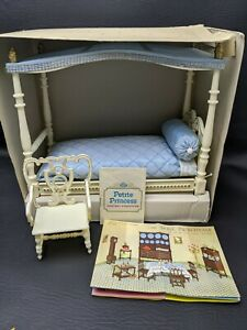 Vintage 1960s SERIE PRINCIPESSA Canopy Bed Made in Italy w/ Original Box
