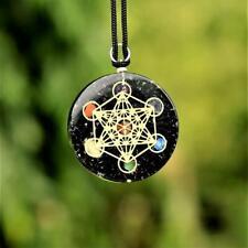 Schutz Amulett Metatrons Würfel Turmalin Anhänger 592