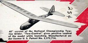 """Berkeley SINBAD 40 PLAN & PARTS PATTERNS for 40"""" Towline Glider Model Airplane"""