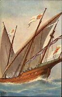 Schiffe ~1910 Marine Galerie Nr. 222 Schebecke Portugal 18. Jahrhundert Ship