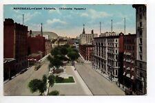 CANADA carte postale ancienne MONTREAL carré Victoria Square
