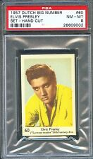 1957 Dutch Big Number Card #60 ELVIS PRESLEY Love Me Tender PSA 8 Pop 1