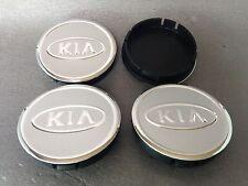 KIA Cache Moyeux Centres de Roue Alu Emblem 4p x 60mm/55mm  *NEUF*