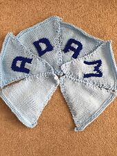 "Handmade Personalised Knitted Bunting ""Adam"" Gift Baby Toddler"