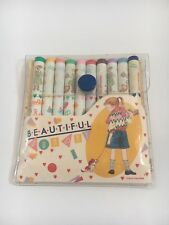 Kutsuwa Beautiful Sunday - Vintage 1980s Stationery - Colour Pencils - Japan