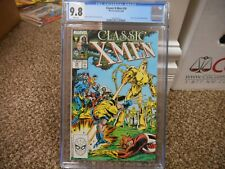 Classic X-Men 24 cgc 9.8 Marvel 1988 Wolverine Storm cover NM MINT WHITE pgs