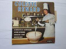 COLETTE RENARD ..45 TOURS ..POCHETTE CUISINE..COMME NEUF AVEC LANGUETTE