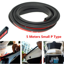 5M Rubber Small P Shape Car Door Edge Moulding Trim Edge Seal Strip Weatherstrip