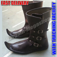 Gifts For Him Unique Christmas Gifts Cheap Medieval Shoes Pure Leather Long Boot