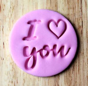 I love you Cookie Embosser Fondant Stamp - 3040