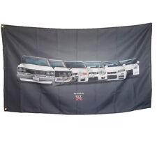 New Racing Banner Flag for GTR NISSAN Flags 3x5ft Advertising Decor Gray