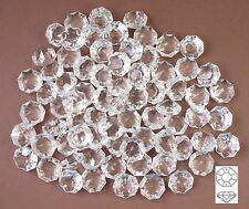 💎 50x Kristall Glas Octagons 14mm Koppe Lüster Ketten Kronleuchter Prismen 💎