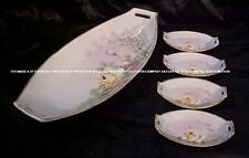 RARE ANTIQUE NIPPON CHINA CELERY DISH W/4 SALT SELLERS!
