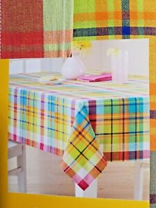 Kohl's Celebrate Summer Together Plaid Print Tablecloth 60x84 Oblong NWT