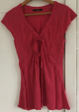 Ladies Lovely South Pink Short Sleeve Top Size 12
