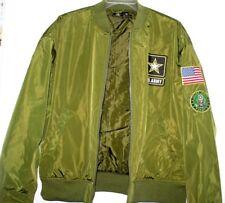 U.S. ARMY BOMBER JACKET MEN XL EXTRA LARGE GREEN