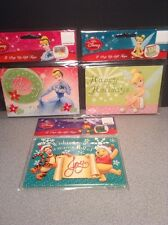 Lot of 3 Disney Christmas Holiday Pop Up Gift Tags Cards Adhesive Strip on Back