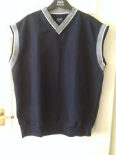 Mens sleeveless V neck Top -  Size XL - Donnay - Navy Blue - VGC
