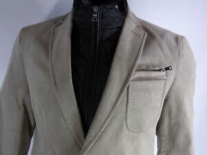 Sakko  Herren Cord Jacke  Größe 48 Beige  mit abnehmbarer Jacke Baumwolle