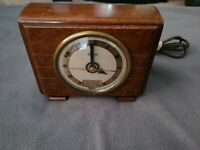 HAMMOND SYNCHRONOUS ALARM CLOCK w/ DATE * 1930's Art Deco * Made in USA * Nice!