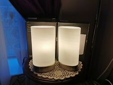 ohn Lewis Danny Oval Touch Table Lamp, Satin Nickel Set of 2, RRP £32 each NEW
