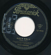 "ROCK HUDSON 45 TOURS 7"" GERMANY ROLY POLY"