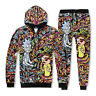 Newest Women/Men 3D Cartoon Print Hoodie Hooded Sweatshirt Pocket Tops Pullover