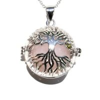 """925 Sterling Tree of Life Pendant Seven Crystal Spheres + 20"""" 925 Silver Chain"""