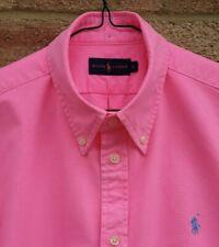 """Grande 46"""" pecho-Rosa Ralph Lauren con bordado azul de bebé icónico Caballo"""