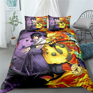 Naruto Anime Single/Double/Queen/King Size Bed Duvet/Quilt/Doona Cover Set Linen