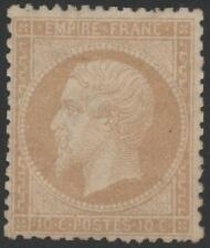"FRANCE  STAMP TIMBRE N° 21 b "" NAPOLEON III 10c  BISTRE-JAUNE"" NEUF x TB  K330"