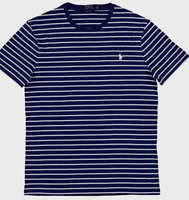 Polo Ralph Lauren Men's Sz XL Crew T-Shirt  Navy White W/ Blue Pony Logo