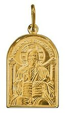 Solid 14K Yellow Gold Jesus Christ W 10mm H 17mm Charm Neklace Pendant 2gr Box