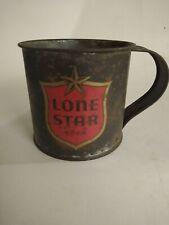 Vintage Lone Star Beer Tin Mug