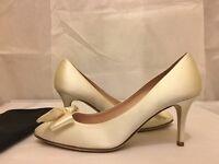 Kate Spade New York Cristie Ivory Satin Women's Evening Heels Pumps Size  6.5 M