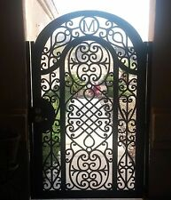 Metal Art Gate Free Monogram Pedestrian Walk Italian Steel Garden Made in US
