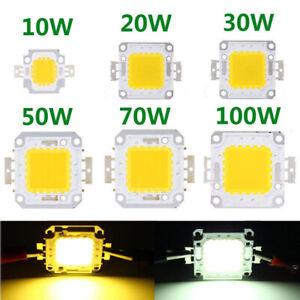 COB LED Chip Lights High Power SMD Bulb 100W 50W 70W 30W 20W 10W  Floodlight Lam