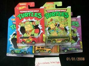 2020 Hot Wheels Nickelodeon Teenage Mutant Ninja Turtles Set 5 Party Van WM Excl