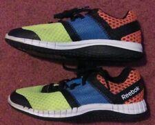 Reebok Zprint Kids Size 2 Yellow Blue Pink Athletic Running Shoes Ar2128