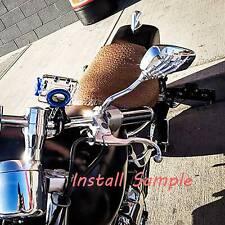 Custom Motorcycle Chrome Rearview Mirrors Skull Bone Skeleton Hand 8mm 10mm AU