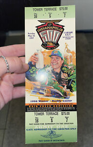 FULL TICKET. RARE. 1997 Indianapolis 500 Race Ticket Stub. Complete Ticket