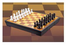 Tradicional Juego de ajedrez plástico Tablero con cajones piezas Familiar 22cm