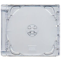10 x CD Super Jewel Box 10.4mm Standard Cases for 1 or 2 Disc with Pack of 10