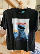 Sesame Street Cookie Monsters Munchies Black T-Shirt Size L